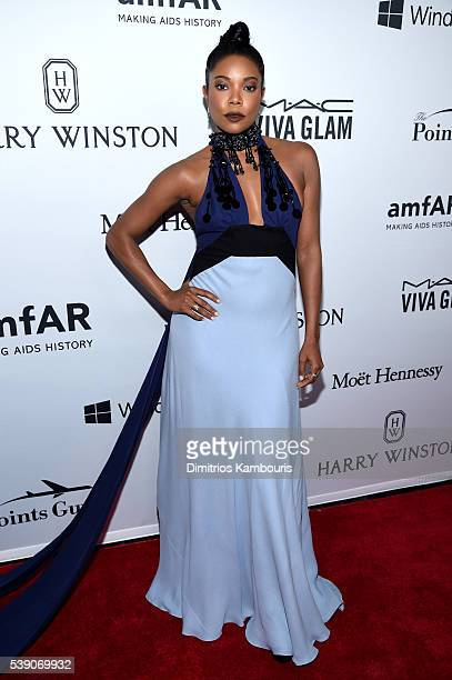 Actress Gabrielle Union attends the 7th Annual amfAR Inspiration Gala at Skylight at Moynihan Station on June 9 2016 in New York City