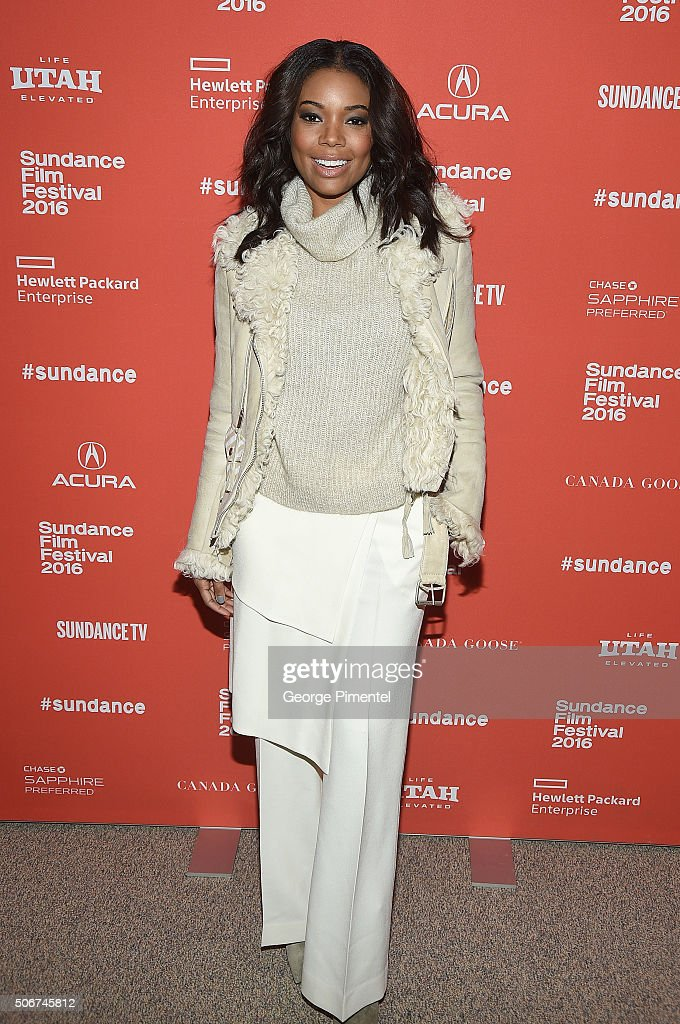 Actress Gabrielle Union attends 'The Birth Of A Nation' premiere during the 2016 Sundance Film Festival at Eccles Center Theatre on January 25, 2016 in Park City, Utah.