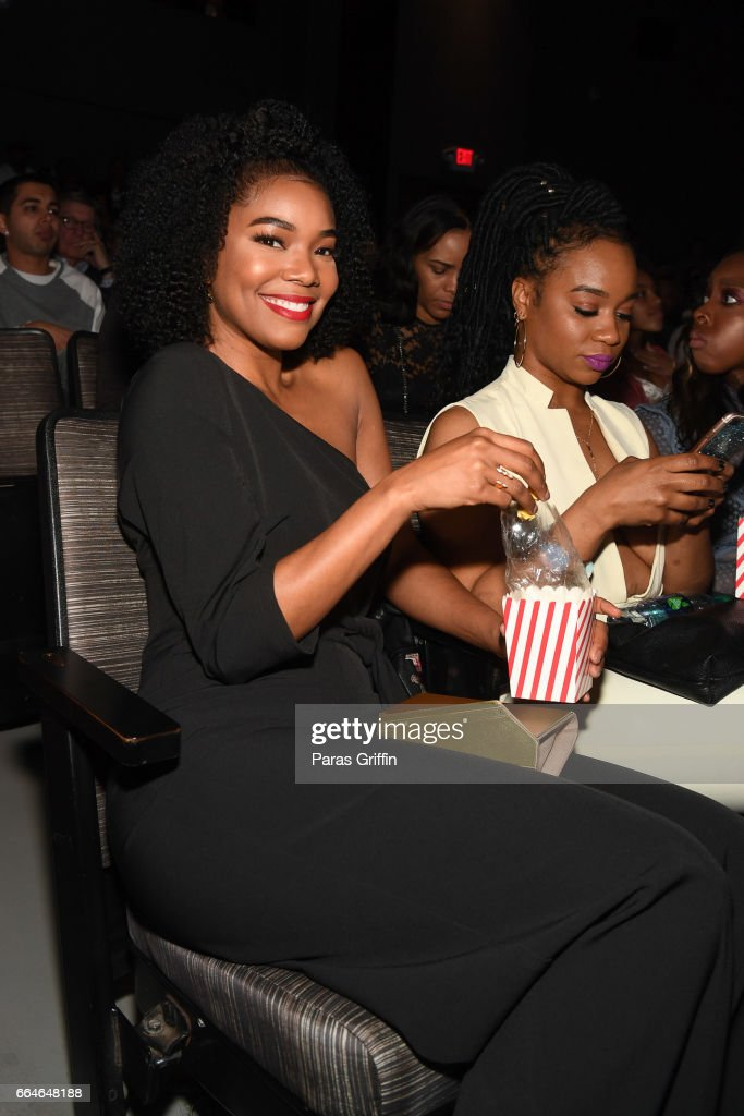 Actress Gabrielle Union attends 'The Fate Of The Furious' Atlanta red carpet screening at SCADshow on April 4, 2017 in Atlanta, Georgia.