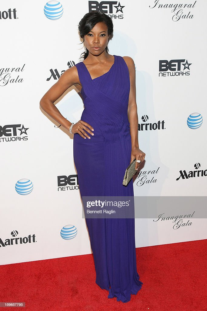 Actress Gabrielle Union attends the Inaugural Ball hosted by BET Networks at Smithsonian American Art Museum & National Portrait Gallery on January 21, 2013 in Washington, DC.