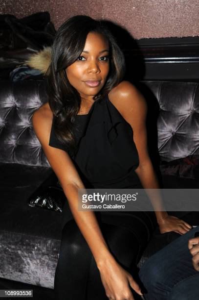 Actress Gabrielle Union attends the Kim Crawford Wines at Christian Siriano Fall 2011 After Party during MercedesBenz Fashion Week at The Box at...