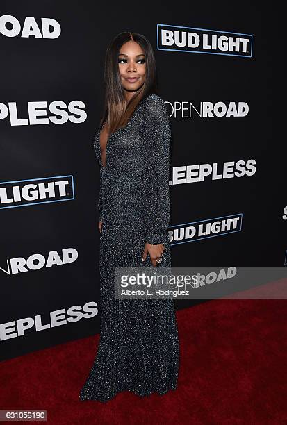 Actress Gabrielle Union attends the Premiere of Open Road Films' Sleepless at Regal LA Live Stadium 14 on January 5 2017 in Los Angeles California