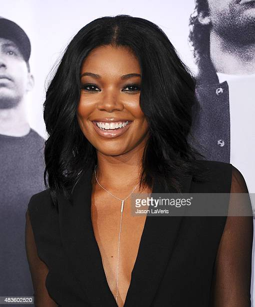 Actress Gabrielle Union attends the premiere of Straight Outta Compton at Microsoft Theater on August 10 2015 in Los Angeles California