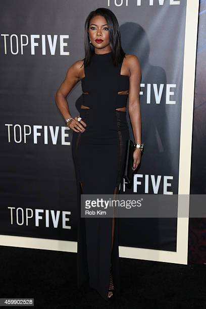 Actress Gabrielle Union attends the Top Five New York Premiere at Ziegfeld Theater on December 3 2014 in New York City