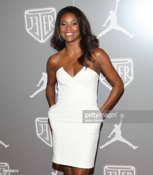Actress Gabrielle Union celebrates Team Jordan athlete Derek Jeter during All-Star week at an exclusive party held at Marquee in New York City on...