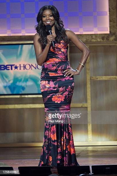 Actress Gabrielle Union hosts the 4th annual BET Honors at the Warner Theatre on January 15 2011 in Washington DC