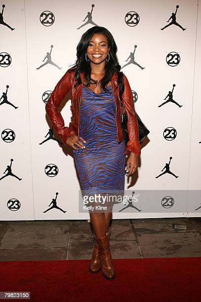 NEW ORLEANS FEBRUARY 15 Actress Gabrielle Union on the red carpet at the  Jordan Brand House 2e7e2160c2
