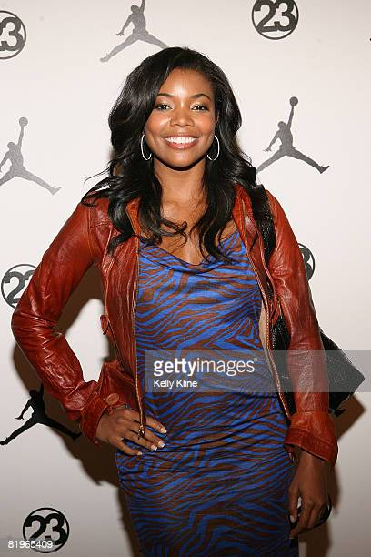 Actress Gabrielle Union on the red carpet at the Jordan Brand House of 23  event celebrating 27b96f9f37