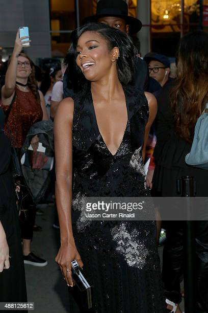 Actress Gabrielle Union poses at Skylight at Moynihan Station during Spring 2016 New York Fashion Week The Shows on September 13 2015 in New York City