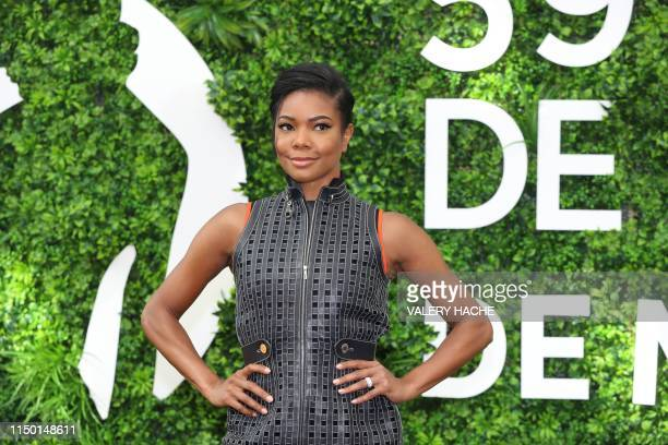 """Actress Gabrielle Union poses during a photocall for the TV show """"La's finest"""" as part of the 59th Monte-Carlo Television Festival on June 15, 2019..."""