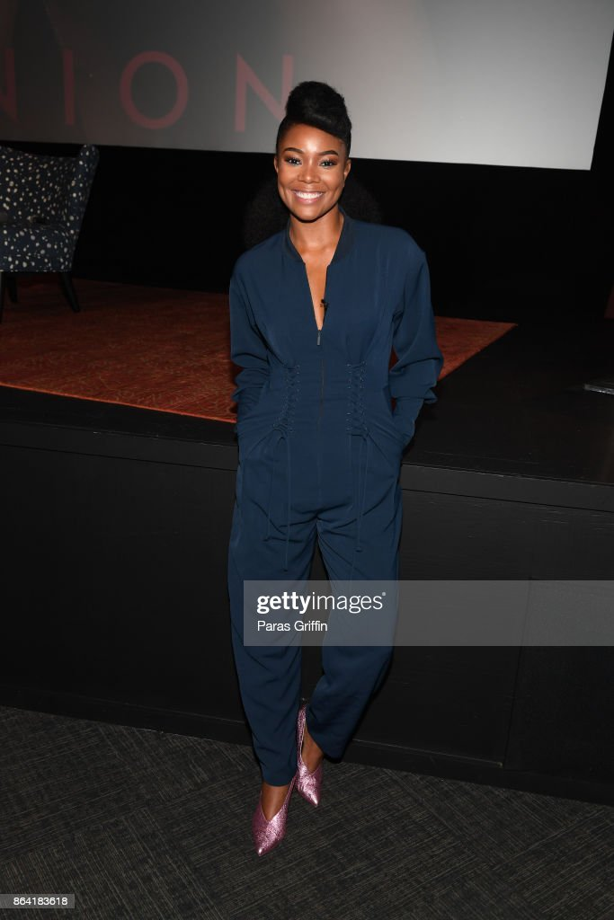 Actress Gabrielle Union promotes her latest book 'We're Going to Need More Wine: Stories That Are Funny, Complicated, and True' during Gabrielle Union's Real Life Book Club Tour at SCADshow on October 20, 2017 in Atlanta, Georgia.