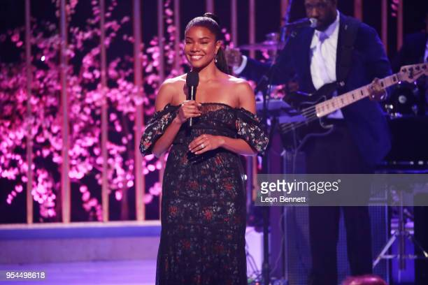 Actress Gabrielle Union speaks onstage during VH1's 3rd Annual 'Dear Mama A Love Letter To Moms' Inside Show at The Theatre at Ace Hotel on May 3...