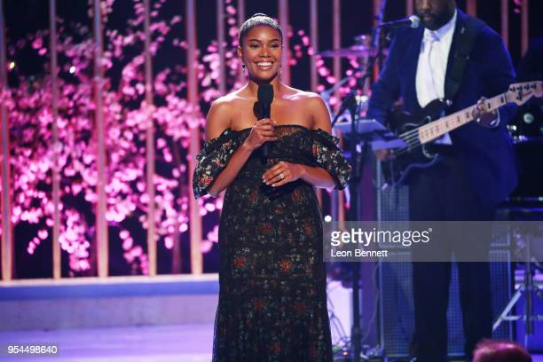 Actress Gabrielle Union speaks onstage during VH1's 3rd Annual Dear Mama A Love Letter To Moms Inside Show at The Theatre at Ace Hotel on May 3 2018...
