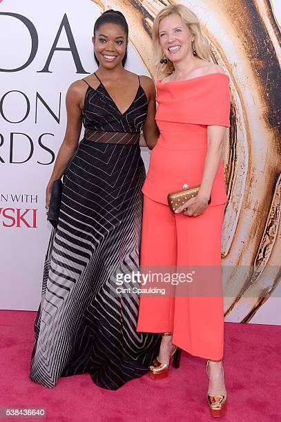 Actress Gabriellle Union and designer Lela Rose attend the 2016 CFDA Fashion Awards at the Hammerstein Ballroom on June 6 2016 in New York City