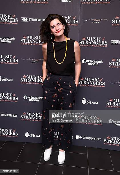 Actress Gaby Hoffman attends The Music Of Strangers New York Screening at Cinema 1 2 3 on June 6 2016 in New York City