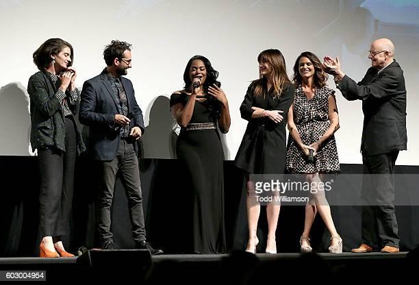 Actress Gaby Hoffmann Actor Jay Duplass Actress Alexandra Grey Actress Kathryn Hahn Actress Amy Landecker and Actor Jeffrey Tambor attend the...