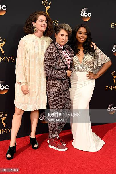 Actress Gaby Hoffmann actress Alexandra Grey and producer Jill Soloway attend the 68th Annual Primetime Emmy Awards at Microsoft Theater on September...