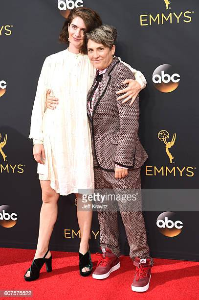 Actress Gaby Hoffmann and producer Jill Soloway attend the 68th Annual Primetime Emmy Awards at Microsoft Theater on September 18 2016 in Los Angeles...