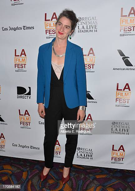 Actress Gaby Hoffmann arrives at the premiere of IFC Films' Crystal Fairy during the 2013 Los Angeles Film Festival at Regal Cinemas LA Live on June...