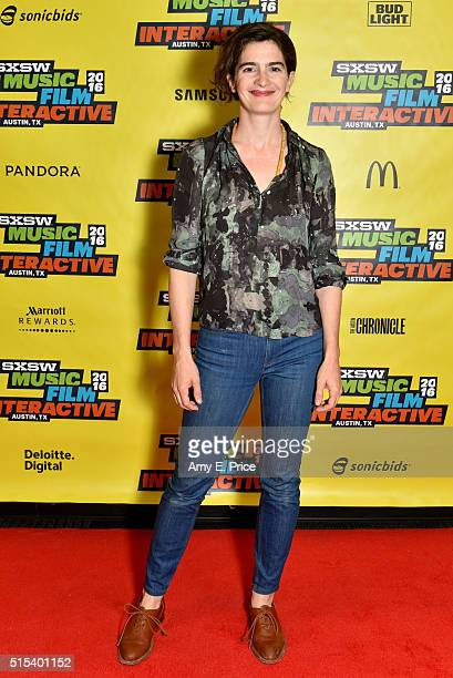 Actress Gaby Hoffmann attends 'A Conversation with Gaby Hoffmann' during the 2016 SXSW Music Film Interactive Festival at Vimeo on March 13 2016 in...