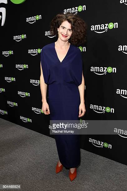Actress Gaby Hoffmann attends Amazon's Golden Globe Awards Celebration at The Beverly Hilton Hotel on January 10 2016 in Beverly Hills California