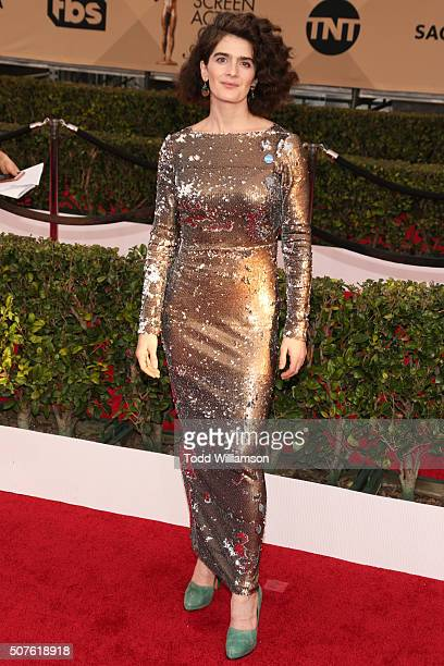 Actress Gaby Hoffmann attends the 22nd Annual Screen Actors Guild Awards at The Shrine Auditorium on January 30 2016 in Los Angeles California