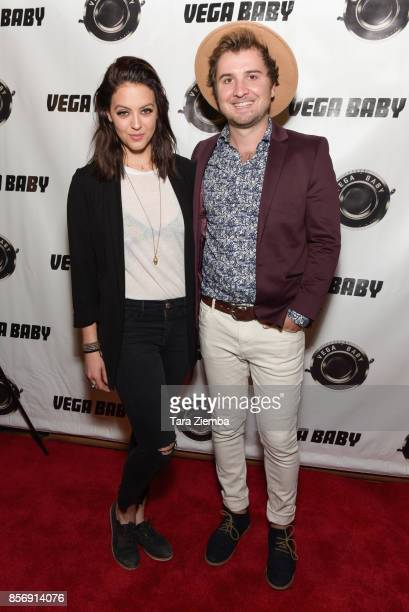 Actress Gage Golightly and writer/director Ryan Gregory Phillips attend a screening of Vega Baby's 'Shortwave' at AMC DineIn Sunset 5 on October 2...