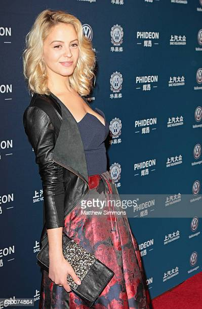 Actress Gage Golightly attends the 21st Annual Huading Global Film Awards at The Theatre at Ace Hotel on December 15 2016 in Los Angeles California