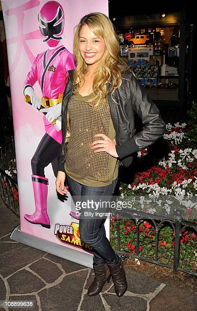 Actress Gage Golightly attends the AllNew 'Power Rangers Samurai' launch and special screening at the park at the Grove on February 7 2011 in Los...