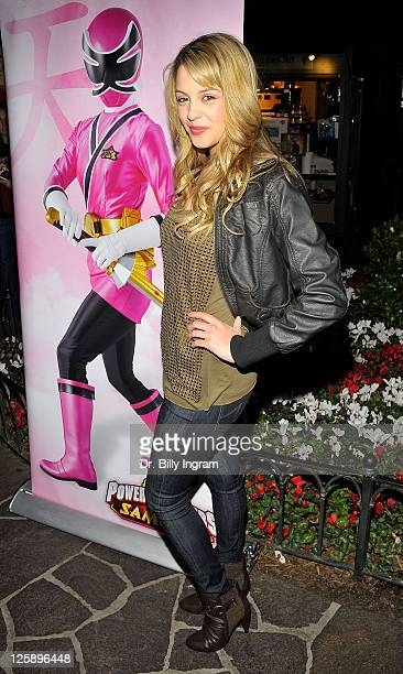 Actress Gage Golightly attends the AllNew Power Rangers Samurai launch and special screening at the park at the Grove on February 7 2011 in Los...