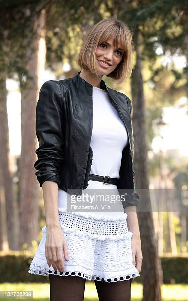 Actress Gaia Bermani Amaral attends 'Baciati Dall'Amore' TV series photocall at Casa del Cinema on November 14 2011 in Rome Italy