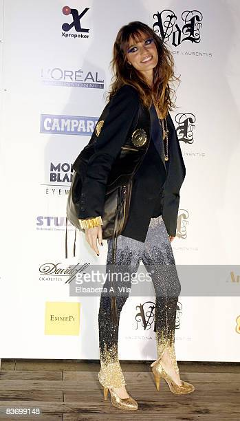 Actress Gaia Bermani Amaral attends Valentina De Laurentis Spring / Summer 2009 new collection on November 14 2008 in Rome Italy