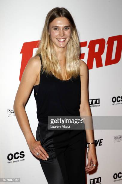 Actress Gaia Weiss attends 'Overdrive' Paris Premiere at Cinema Gaumont Capucine on June 19 2017 in Paris France