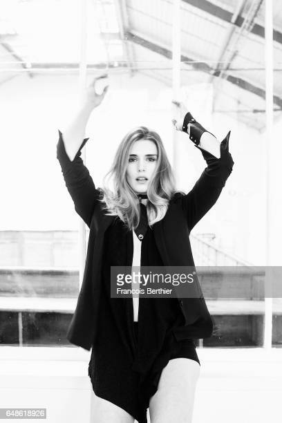 Actress Gaia Weiss is photographed for Self Assignment on January 5 2017 in Paris France