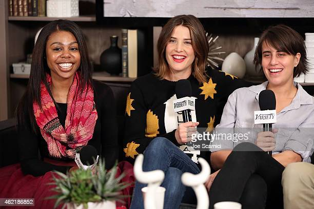 Actress Gail Bean actress Cobie Smulders and director Kris Swanberg speak at The Variety Studio At Sundance Presented By Dockers on January 25 2015...