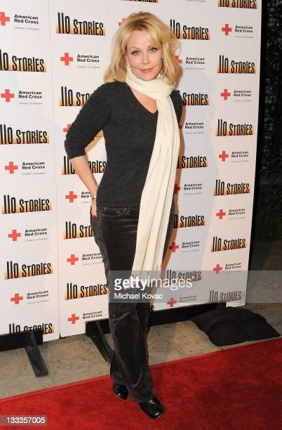 Actress Gail O'Grady arrives at a special reading of '110 Stories' to benefit the Red Cross at Geffen Playhouse on February 22 2010 in Los Angeles...
