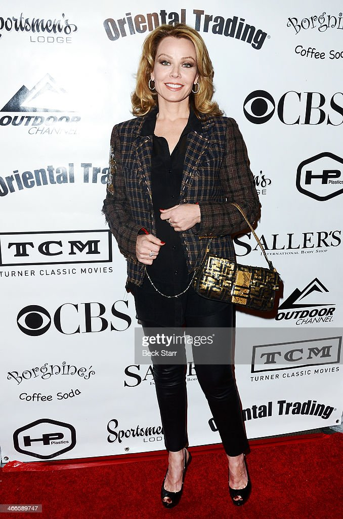 Actress Gail O'Grady attends Borgnine Movie Star Gala to honor actor Joe Mantegna with the second annual Ernie Award at Sportman's Lodge on February 1, 2014 in Studio City, California.