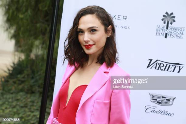 Actress Gal Gadot arrived at the Variety's Creative Impact Awards And 10 Directors To Watch At The 29th Annual Palm Springs International Film...
