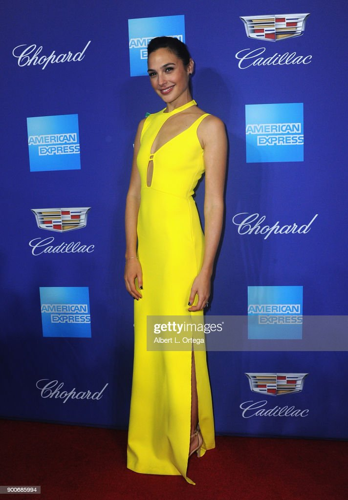 Actress Gal Gadot arrives for the 29th Annual Palm Springs International Film Festival Film Awards Gala held at Palm Springs Convention Center on January 2, 2018 in Palm Springs, California.