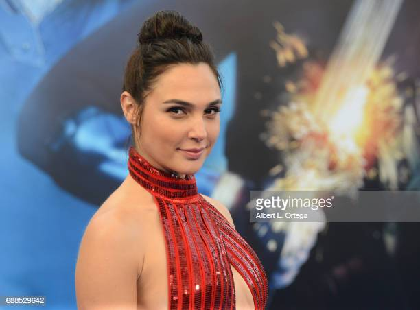 "Actress Gal Gadot arrives for the Premiere Of Warner Bros. Pictures' ""Wonder Woman"" held at the Pantages Theatre on May 25, 2017 in Hollywood,..."