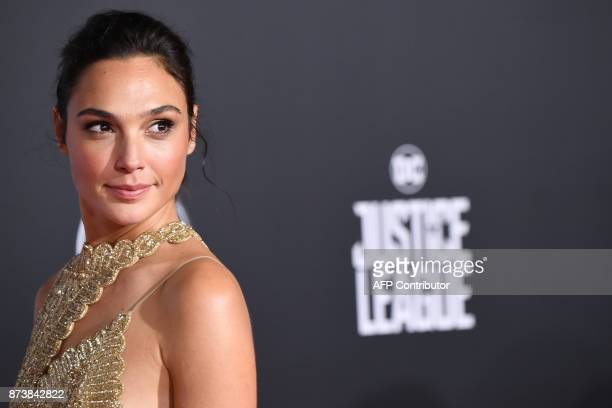 Actress Gal Gadot arrives for the world premiere of Warner Bros Pictures' Justice League November 13 2017 at the Dolby Theater in Hollywood...