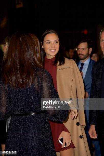 Actress Gal Gadot attends the 2017 GO Campaign Gala at NeueHouse Los Angeles on November 18 2017 in Hollywood California
