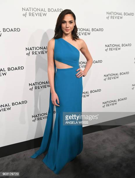 Actress Gal Gadot attends the 2018 National Board of Review Awards Gala at Cipriani 42nd Street on January 9 2018 in New York City / AFP PHOTO /...