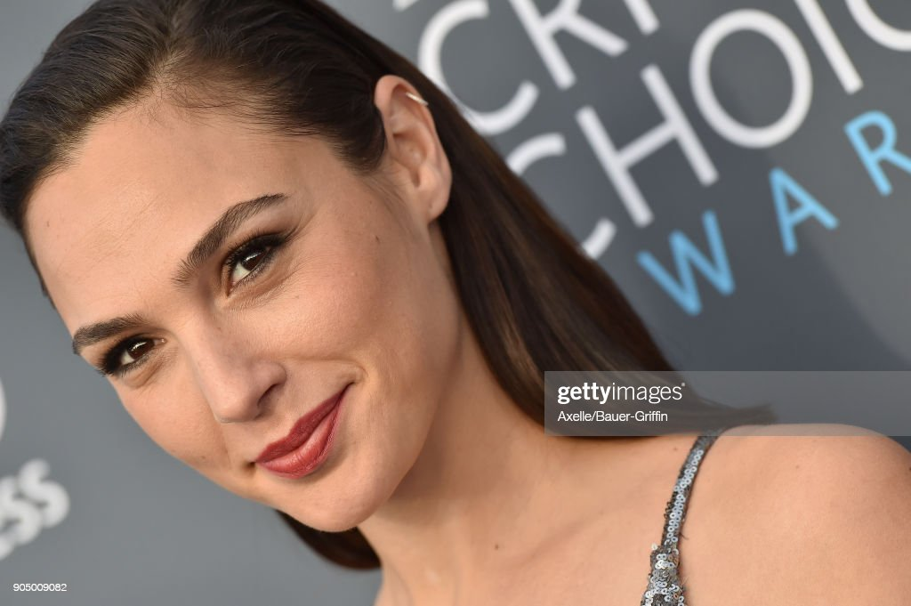 Actress Gal Gadot attends the 23rd Annual Critics' Choice Awards at Barker Hangar on January 11, 2018 in Santa Monica, California.