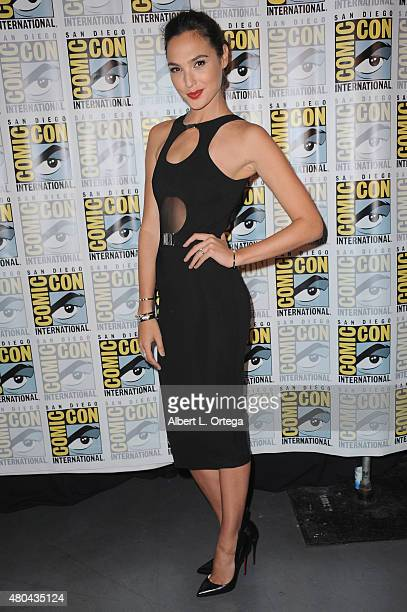 Actress Gal Gadot attends the Entertainment Weekly Women Who Kick Ass panel during ComicCon International 2015 at the San Diego Convention Center on...