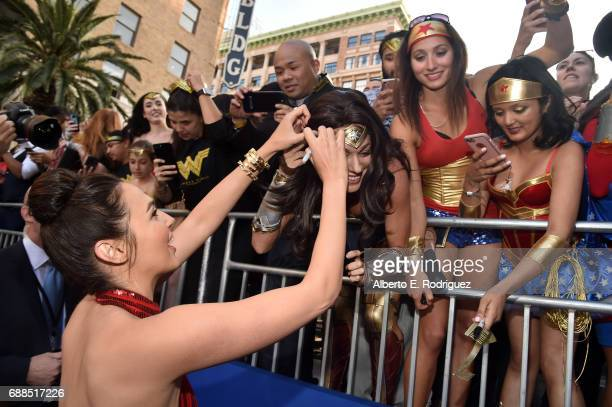 Actress Gal Gadot attends the premiere of Warner Bros Pictures' 'Wonder Woman' at the Pantages Theatre on May 25 2017 in Hollywood California