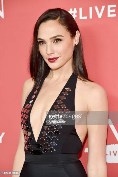 Actress Gal Gadot attends the Revlon Live Boldly launch event at Skylight Modern on January 24 2018 in New York City