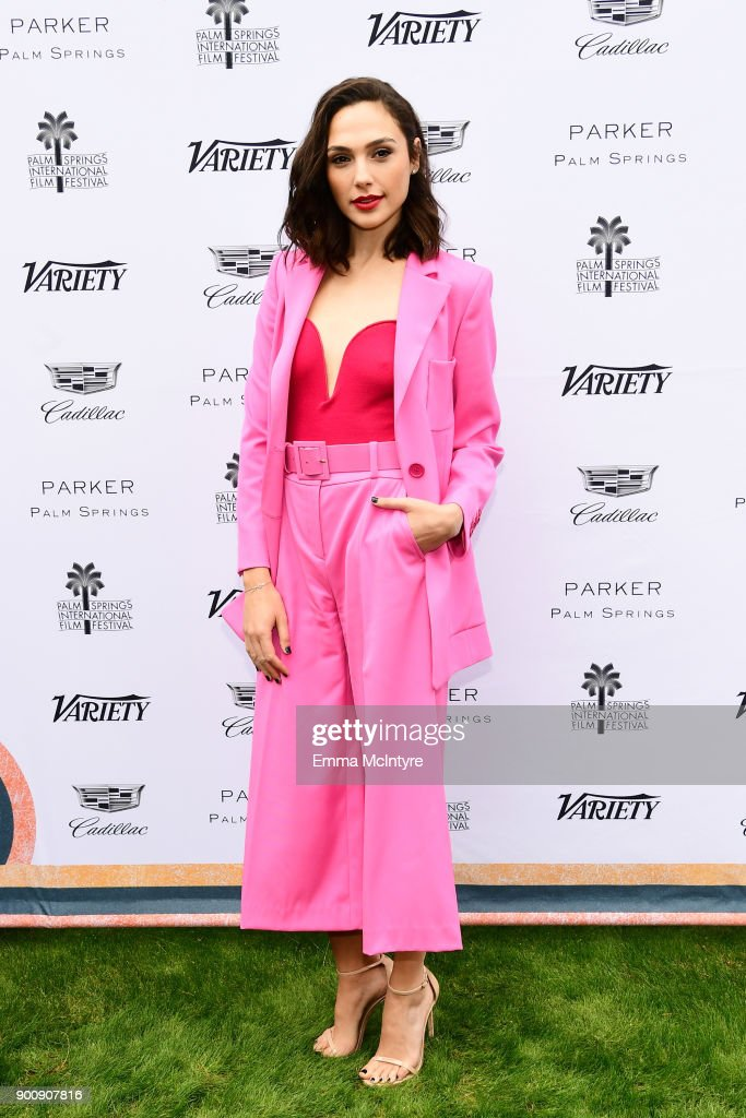 Actress Gal Gadot attends the Variety's Creative Impact Awards and 10 Directors to watch at the 29th Annual Palm Springs International Film Festival at Parker Palm Springs on January 3, 2018 in Palm Springs, California.