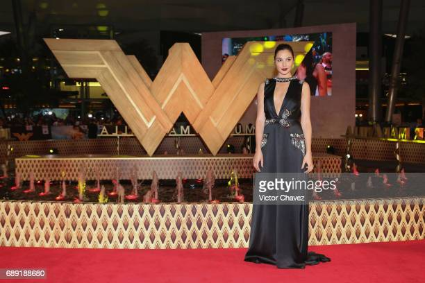 "Actress Gal Gadot attends the ""Wonder Woman"" Mexico City premiere at Parque Toreo on May 27, 2017 in Mexico City, Mexico."