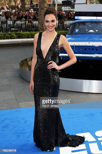 Actress Gal Gadot attends the World Premiere of 'Fast Furious 6' at Empire Leicester Square on May 7 2013 in London England